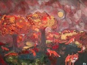 Il dipinto Bosco di Volpi