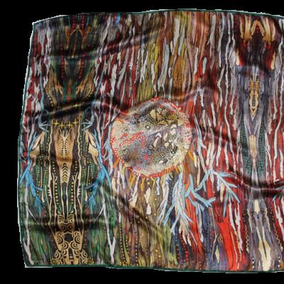 Magnetico, foulard di seta, 90 cm x 90 cm