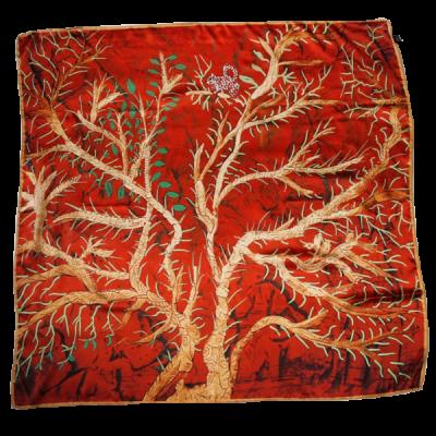 Scoiattolo, foulard di seta ,90 cm x 90 cm